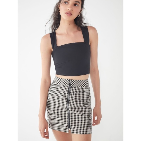 Urban Outfitters Dresses & Skirts - UO Marsha Gingham Zip-Front Mini Skirt